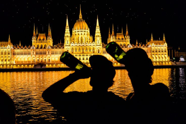 Beer boat activity in Budapest during a stag do