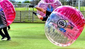 Bubble football stag do hen do Budapest
