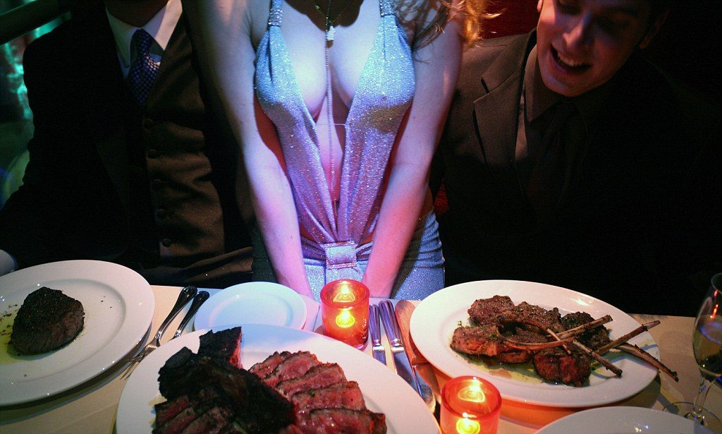 Steak & titties stag do Budapest activity