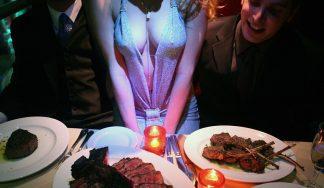 Steak & titties stag do Budapest activity