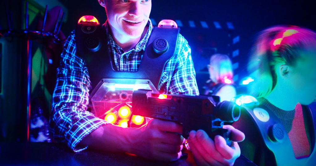 lasertag in Budapest for stag do weekends and hen party